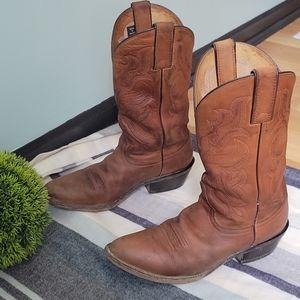 Nocona Leather Western Style Heeled Boots